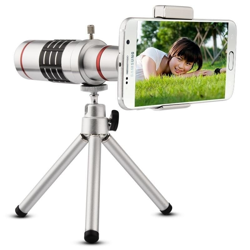 Beli 18X Zoom Optik Teleskop Lensa Telephoto Kit Ponsel Kamera Lensa Pembesar With Tripod Untuk Iphone Untuk Samsung Universal Ponsel Silver Online Hong Kong Sar Tiongkok