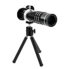 18X Zoom Phone Telescope Lensa Kamera Telephoto + Tripod Lens Cover (Hitam)-Intl