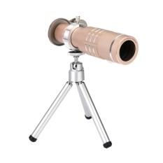 Toko 18X Zoom Phone Telescope Lensa Kamera Telephoto Tripod Lens Cover Emas Intl Termurah Indonesia