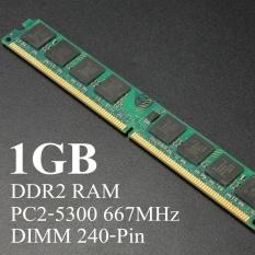 1 GB DDR2 PC2-5300 667 MHz PC Desktop DIMM SDRAM Memori RAM Bebas-