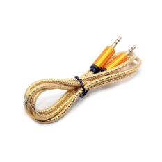 1 M 3.5mm Jack Kabel Audio Male To Male Stereo Audio Tambahan Kabel Ekstensi Emas Plated untuk Telepon Mobil Speaker-Intl