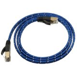 Katalog 1M Durable Strong Cat 7 Cat7 Rj45 10Gbps Ethernet Flat Cable Lan Network Cord Blue Terbaru