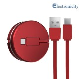 Promo 1M Retractable Type C Fast Charging Data Cable For Huawei Xiaomi Android Intl Not Specified