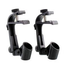 Jual 1 Pair Adjustable Drum Mic Mikrofon Holder Mount Clamp Recording Black Intl Online Tiongkok