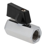 Cuci Gudang 1 Pc G1 4 Thread Ball Valve Blok Air Valve Untuk Pc Sistem Pendingin Air Silver Intl