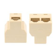 1 PC Mini RJ45 CAT5 6 LAN Port 1 Sampai 2 Soket Konektor Adaptor untuk PC Laptop-Intl