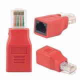 Promo 1 Pc Portable Rj45 Ethernet Jaringan Crossover Converter Adaptor Pria Untuk Wanita China Akhir Tahun