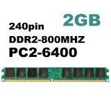 Toko 1Pcs 2Gb Ddr2 800 Pc2 6400 Non Ecc Desktop Pc Dimm Memory Ram Sdram 240 Pins Intl Not Specified Di Tiongkok