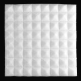 Spesifikasi 1 Buah Busa Kedap Suara Akustik Studio Rekaman Suara Menghentikan Penyerapan Pyramid Busa Putih Internasional Dan Harga