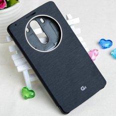 1 Pcs Cepat Lingkaran Kasus Flip Leather Cover untuk LG Optimus G3 D855 D850 (Hitam) --Intl