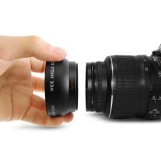 1 Set 52 Mm 0.45X Wide Angle Resolusi Tinggi Lensa Makro untuk DSLR Kamera-Internasional