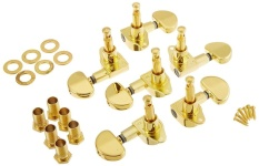 1 Set 6R Inline Gitar String Tuning Peg Mesin Kepala Tuner Emas untuk Gitar Akustik Oleh WWang Store-Intl