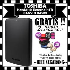 1Tb Hdd Toshiba Canvio Basic Harddisk External Black Gratis Hard Case Antishock Shockproof Usb Otg Reader Mini Diskon Akhir Tahun
