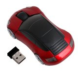Jual 2 4 Ghz 3D Mouse Optik Wireless Mouse Bentuk Mobil Penerima Usb To Pc Laptop Merah Di Bawah Harga