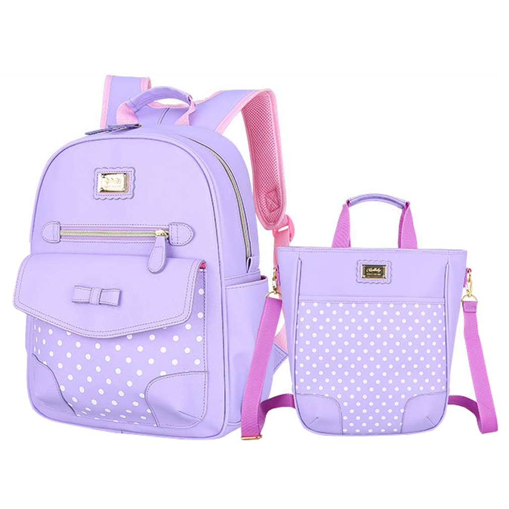 Spesifikasi 2 Buah Kelas 3 6 Anak Perempuan Sch**l Dasar Tas Ransel Tas Sekolah Anak Casing Bahu Tas Buku Semua Kebutuhan Bisnis Ungu Dan Harganya