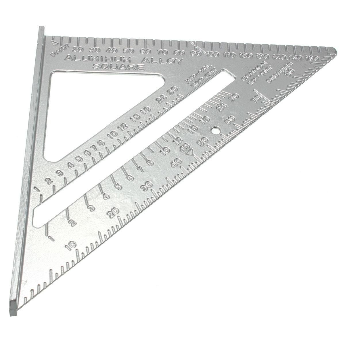 2 buah Square aluminium paduan kecepatan busur derajat mitra penyusunan pengukuran untuk tukang kayu - Internasional