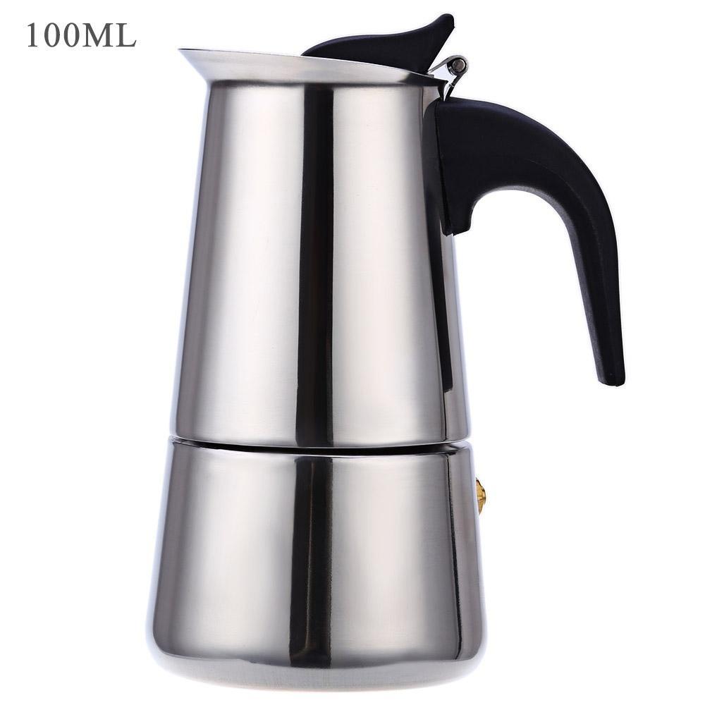 Harga 2 Cangkir 100 Ml Stainless Steel Mocha Espresso Latte Cerek Penapis Kompor Pembuat Kopi Pot 100 Ml Intl Yang Murah