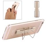2 In 1 Pemegang Perekat Universal Yang Dapat Disesuaikan Mini Stan Langsing Cengkeraman Jari For Ponsel And Tablet Ukuran 7 3 Cm X 2 2 Cm X 3 Cm Emas Sunsky Diskon 30