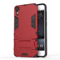 2 In 1 Dual Layer Perlindungan Hybrid Rugged Shockproof Case Pelindung Tubuh Penuh Cover Hard Shell Cover dengan Kickstand untuk HTC Desire 10 Gaya Hidup-Intl