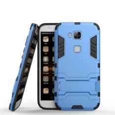 2 In 1 Dual Layer Perlindungan Hybrid Rugged Shockproof Case Pelindung Tubuh Penuh Cover Hard Shell Cover dengan Kickstand untuk Huawei Maimang 4/G7 Plus/G8-Intl