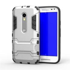 2 In 1 Dual Layer Perlindungan Hybrid Rugged Shockproof Case Pelindung Tubuh Penuh Cover Hard Shell Cover dengan Kickstand untuk Motorola Moto X Play/DROID Maxx 2-Intl