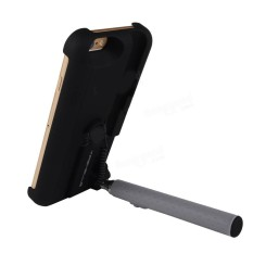 2 In 1 Extendable Monopod Wired Remote Selfie Stick Case For Iphone 6 6S Intl Asli