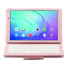 2 In 1 Huawei MediaPad T2 10.0 Pro FDR-A03L Detachable Bluetooth Keyboard + Horizontal Flip Leather Case With Holder(Pink)