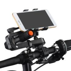 2 In 1 Multifungsi Sepeda Ponsel Mount Cell Phone Bicycle Rack Handlebar Flashlight Holder dengan Mini Outdoor Kuat Light Lamp Handheld Senter Obor untuk IPhone 7 6 S Samsung Galaxy S3 S4 S5 S6 S7 Catatan 3 4 5 LG HTC Smartphone-Intl