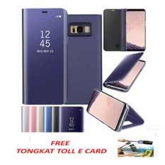 Beli 2 In 1 S View Autolock Transparant Flipmirror Smart Case With Stand For Samsung Galaxy S8 Plus Random Color Free Tongkat Toll E Card Cicil
