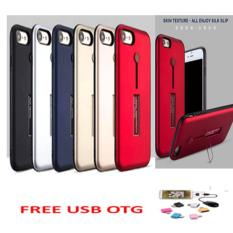 ... shock anti crack for iphone 7 plus aircase putih transparant free usb. Source · 2 in 1 Tough Cover PC TPU Hybrid Defender Metallic Kickstand Case with ...