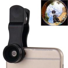 2 Dalam 1 Universal 15X Marco Lensa + 0.63X Lebar Lensa dengan Klip, untuk iPhone, Samsung, sony, Lenovo HTC, Huawei dan Lainnya Ponsel Pintar (Hitam)-Internasional