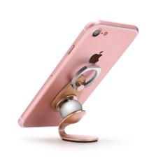 2 In 1 Universal 360 Derajat Cincin Magnetik Mobil Mounts Holder Stand untuk Aksesori Ponsel (Pink) -Intl