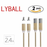 Jual 2 Pack Lyball Pengisian Cepat Apple Lightning Kabel Pengisian Magnet Lightning Braided Aluminium Kabel 8 Pin Ke Usb Data Sync Kabel Pengisian Untuk Iphone 5 5 S Se 6 6 S 7 7 Plus Intl Murah Di Tiongkok