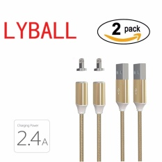 Toko Jual 2 Pack Lyball Pengisian Cepat Apple Lightning Kabel Pengisian Magnet Lightning Braided Aluminium Kabel 8 Pin Ke Usb Data Sync Kabel Pengisian Untuk Iphone 5 5 S Se 6 6 S 7 7 Plus Intl