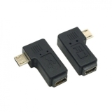 Ongkos Kirim 2 Pcs 90 Degree Left Right Angled Mini Usb 5Pin Female To Micro Usb Male Data Sync Power Adapter Di Tiongkok