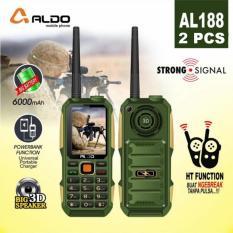 2 PCS ALDO AL188 HP Plus HT +/- 5KM BAT 10000mAh