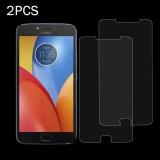 Promo 2 Pcs Untuk Motorola Moto E4 3Mm 9 H Permukaan Kekerasan 2 5D Explosion Proof Tempered Glass Non Layar Penuh Film Intl Murah