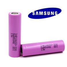 2 Pcs Samsung Baterai Rokok Elektrik Mods Vape Vapor 18650 3000mAh - Pink