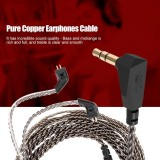 Review 2 Pin Pure Copper Wire Earphones Cable Detachable Audio Cord For Kz Zst Ed12 Es3 Zsr Headphone Intl