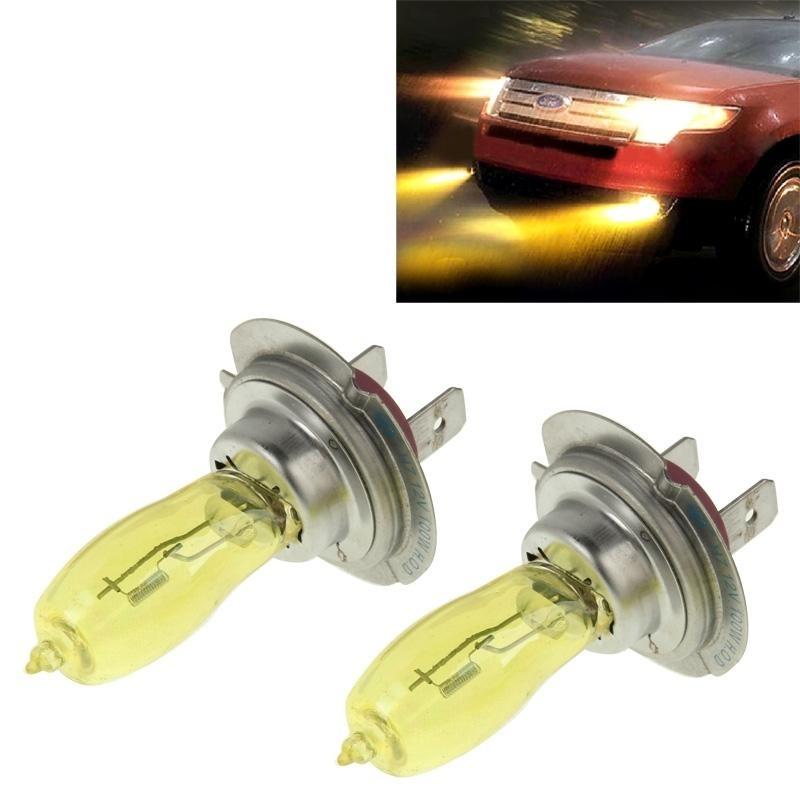 2 X H7 Hod Xenon Bulbs 12V 100W 6000K Yellow Light Headlights Intl Not Specified Diskon