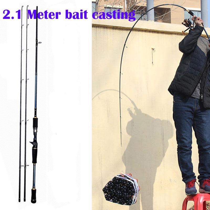 Jual 2 1 Meter Bait Casting Fishing Rod Tongkat Pancing Joran Putar Bahan Karbon Fiber Ukuran M Ml Termurah