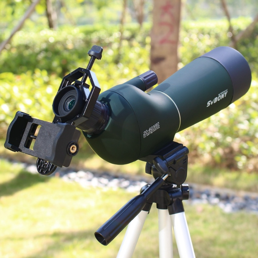 Beli 20 60X60 Spotting Scope Waterproof Teleskop Zoom Spotting Scope Birdwatch Monocular Universal Phone Adapter Mount F9308 Murah Tiongkok