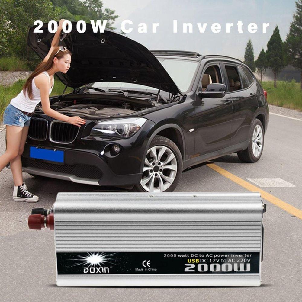 Harga 2000 W Dc Ke Ac Power Converter Dc 12 V Untuk 220 V Ac Usb Transformer Mobil Intl Asli