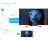 Ulasan Lengkap 200 Cm Hdmi Video Transfer Adapter Untuk Iphone Ipad Ke Hdmi Untuk Perangkat Apple Biru Intl