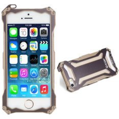 2015   Real New Cell Phones Phone Cases Original R-just Gundam Series Frame Metal Outdoor Cover For Applefor Iphone 5/5s (Gold)(Neutral) - Intl