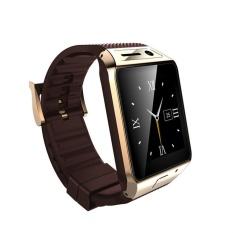 2015 Update Gv08s Smart Watch Fv08s 1.5 Inch 2.0 M Kamera Mendukung Kartu SIM Bluetooth Pedometer untuk Ponsel Android Smartwatch Emas &-Intl