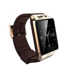 2015 Update Gv08s Smart Watch Fv08s 1.5 Inch 2.0 M Kamera Mendukung Si Mcard Bluetooth Pedometer untuk Ponsel Android Smartwatch Emas & N-Internasional