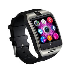 2016 Panas BARU Bluetooth Jam Tangan Pintar Q18 Apro Smartwatch Penopang NFC SIM Kartu Kamera Video Mendukung Android Nomor IOS HP Telepon Hitam