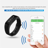 Harga 2016 Kualitas Tinggi Skmei L28T Gelang Pintar Alat Pengukur Langkah Kalori Menelepon Mengingatkan Bluetooth Gelang Hitam Terbaik