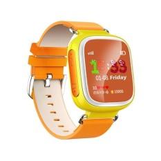 2016 Anak Gps Pintar Jam Tangan Jam Tangan SOS Panggilan Location Alat Pelacak untuk Anak Aman Anti Hilang Monitor Bayi Hadiah Q80 PK Q50 Q60 # Oranye-Internasional